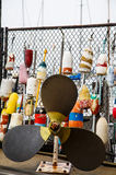 Lobster Propeller and Lobster Buoys Stock Images