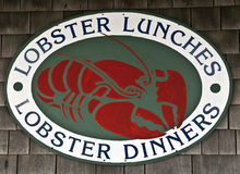 Lobster restaurant sign Royalty Free Stock Photography