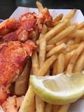 Lobster roll royalty free stock images