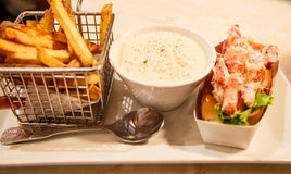 Lobster Roll and French Fries Stock Image