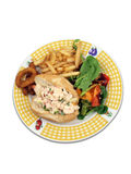 Lobster roll sandwich meal Stock Photos