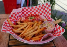 Lobster roll served in Seafood Restaurant Royalty Free Stock Photography