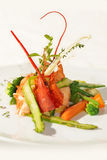 Lobster's salad. Tasty, beautiful and useful salad Royalty Free Stock Image