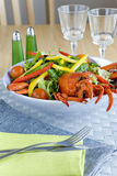 Lobster salad Stock Images