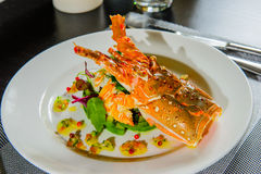 Lobster with salad Royalty Free Stock Image