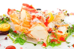 Lobster salad in japanese style Stock Photos