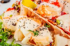 Lobster salad in japanese style Royalty Free Stock Photos