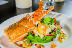 Lobster salad in japanese style . Royalty Free Stock Photos