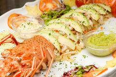 Lobster salads,. With avogado and Mayonnayse Stock Image