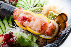 Lobster Sashimi Duet Royalty Free Stock Images