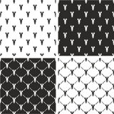 Lobster Seamless Pattern Set Royalty Free Stock Photo