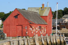 Lobster shack in Rockport, MA Royalty Free Stock Photography