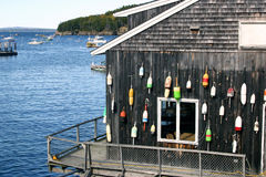 Lobster Shed. Typical of the lobster restaurants to be found along coastal Maine, USA Royalty Free Stock Photos
