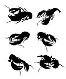 Lobster Silhouette -Vector Royalty Free Stock Photos