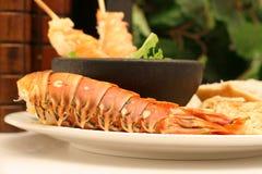 Lobster skewers Royalty Free Stock Images