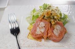 Lobster smoked salmon salad Royalty Free Stock Image