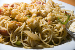 Lobster spaghetti photographed in nicaragua Royalty Free Stock Photo