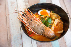 Lobster Spicy noodle 4 Royalty Free Stock Images