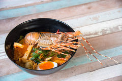 Lobster Spicy noodle 1 Royalty Free Stock Image