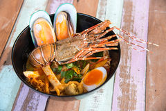Lobster Spicy noodle 9 Stock Photos