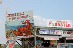 Lobster Stand. A lobster and seafood stand on the side of the road in Maine Royalty Free Stock Photos