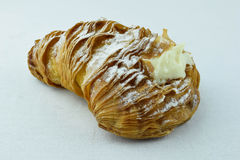 Lobster tail pastry. An lobster tail pastry on an white back ground Royalty Free Stock Photo