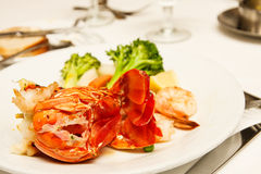 Lobster Tails with Shrimp Royalty Free Stock Images