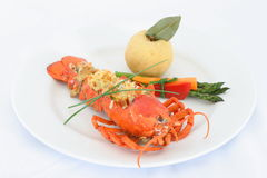 Lobster Thermidor. A traditional dish Royalty Free Stock Photography