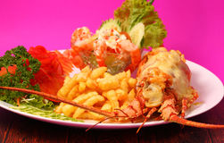 Lobster thermidor Stock Photography