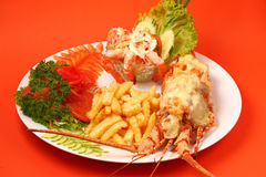 Lobster thermidor Stock Photo