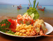 Lobster thermidor Stock Images