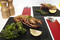 Lobster thermidor stock photos
