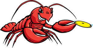Lobster throwing disc. Stock Photography