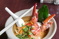 Lobster Noodles Royalty Free Stock Photography
