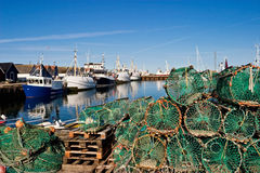 Lobster trap. On the Quay Royalty Free Stock Images