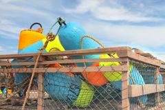 Lobster Trap Buoys Stock Images