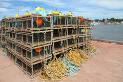 Lobster Trap & Buoys Stock Photo