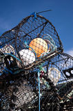 Lobster trap Royalty Free Stock Photography