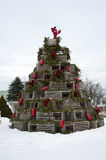 Lobster Trap Holiday Tree Royalty Free Stock Image