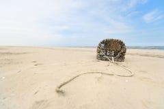 Lobster trap at North sea coast Stock Images