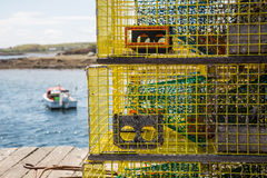 Lobster trap Royalty Free Stock Photo