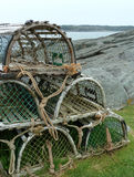 Lobster traps Royalty Free Stock Images
