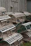Lobster traps 3 Royalty Free Stock Photos