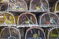 Free Lobster Traps Royalty Free Stock Photography - 39381327