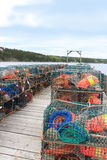 Lobster traps and buoys Royalty Free Stock Photo