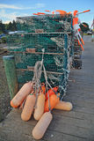 Lobster Traps & Buoys Stock Photo