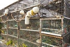 Lobster traps Stock Photos