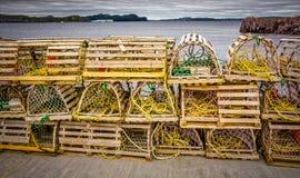 Lobster Traps, Coastal Newfoundland, Canada Stock Image