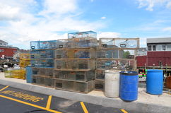 Lobster traps Stock Photo