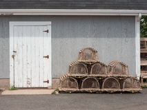 Lobster Traps and Doorway Royalty Free Stock Photo